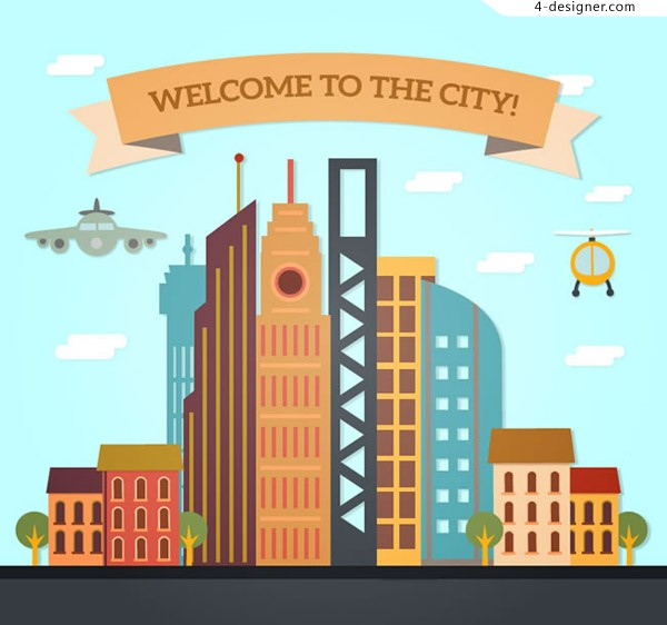 City welcome poster vector