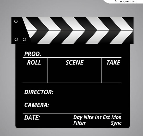 Clapperboards design vector