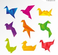 Color origami dove vector