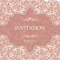 Elegant pink pattern invitation