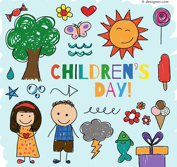 Elements of painted children s Day