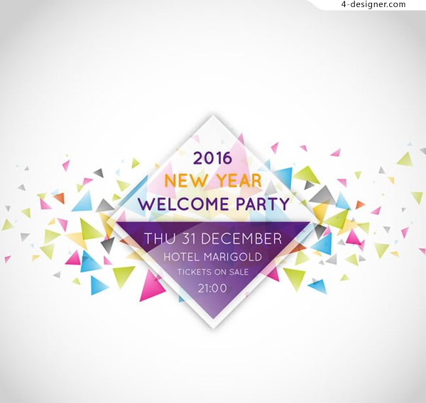Fashion New Year party Poster