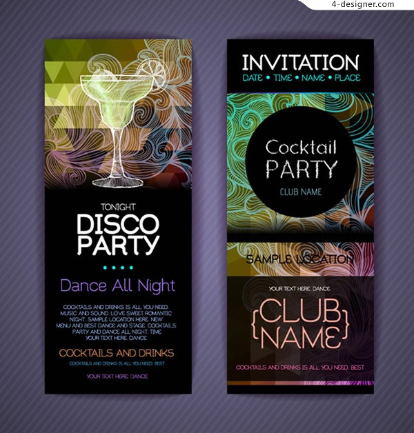 Fashion party invitation card