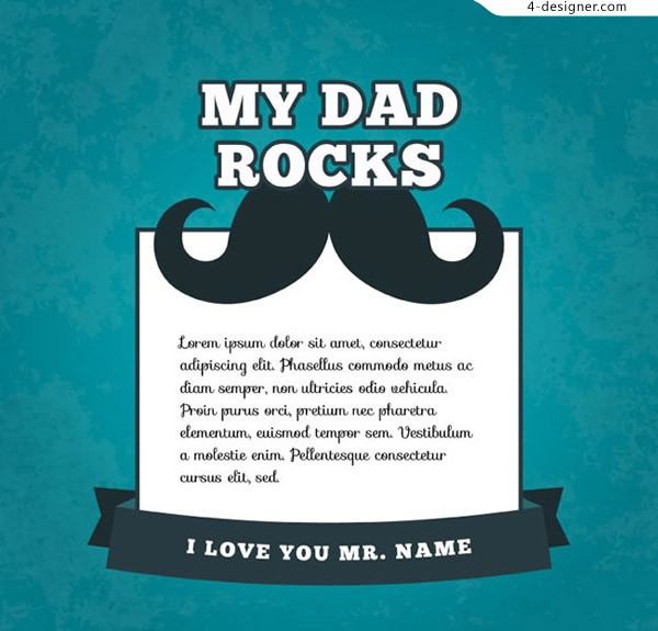 Father s Day mustache greeting card