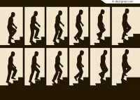 Figure silhouette on stage
