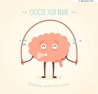 Fitness brain illustration