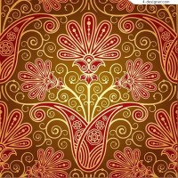 Gorgeous red pattern background