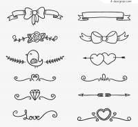 Hand drawn lace vector