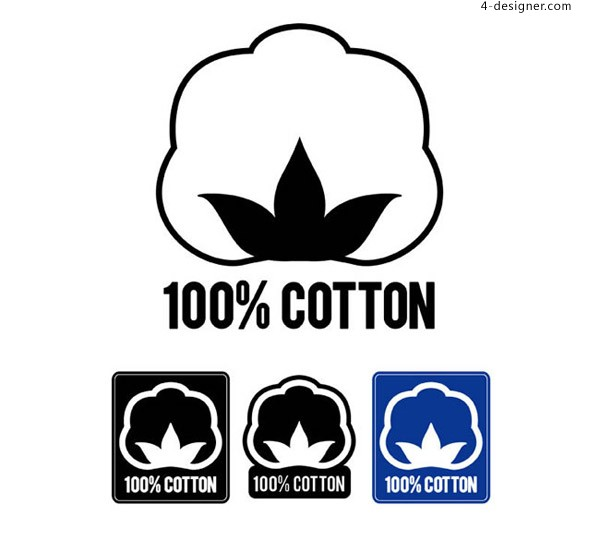 Label of pure cotton products