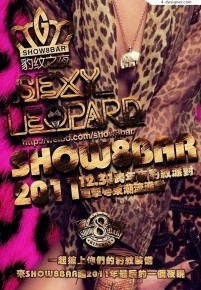 Leopard night party Poster