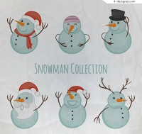 Lovely Snowman vector