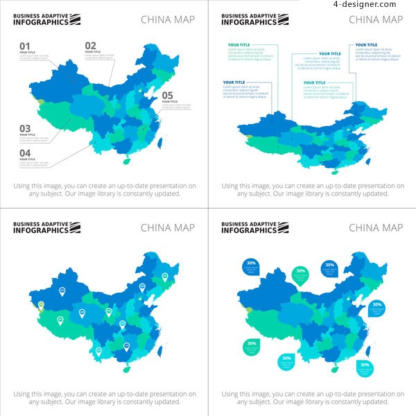 Map information chart of China