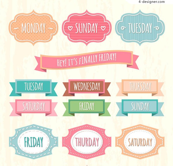 One week date label vector