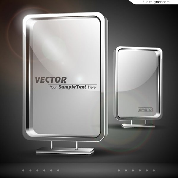 Outdoor light box vector
