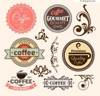 Patterns and coffee labels