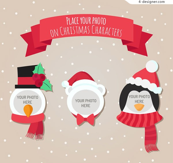 Photo frame for Christmas characters