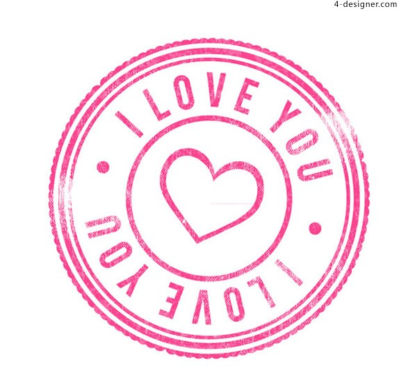 Pink love stamp