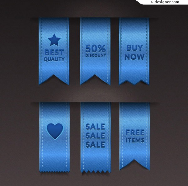 Promotional ribbon labels