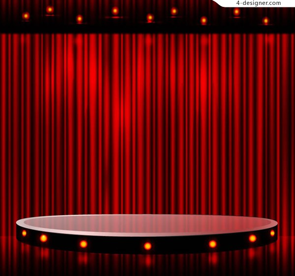 Red stage vector