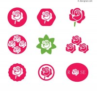 Rose icon vector