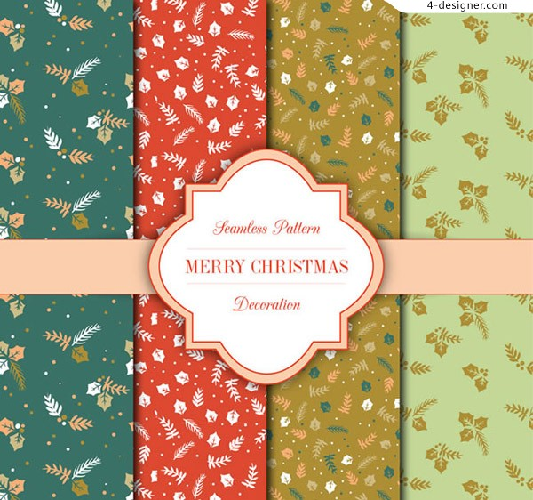 Seamless background of Christmas elements
