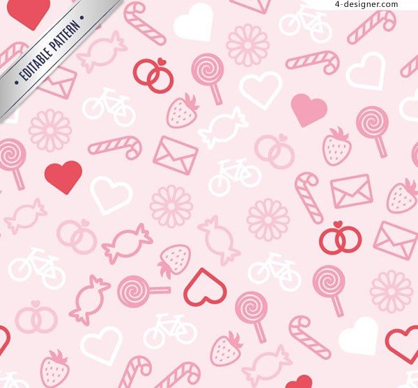Seamless background of cartoon pattern