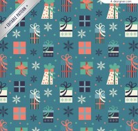 Seamless background of holiday gift box