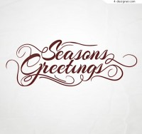 Season greeting art word