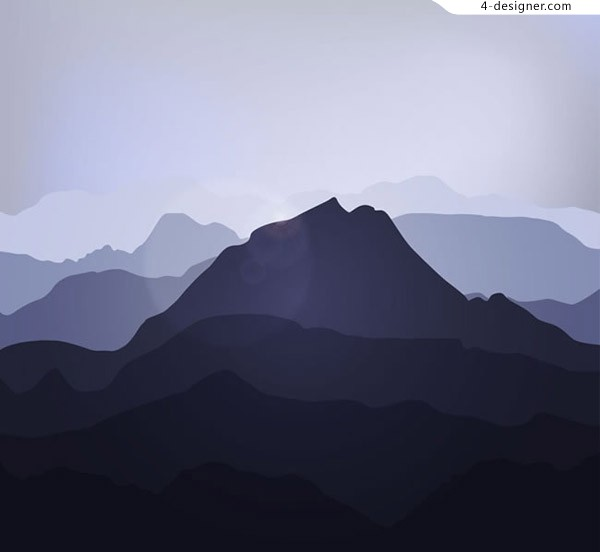 Silhouette of creative mountains
