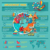 Amusement park information map