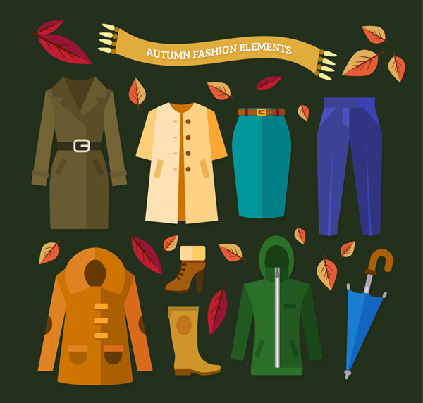 Autumn apparel and accessories
