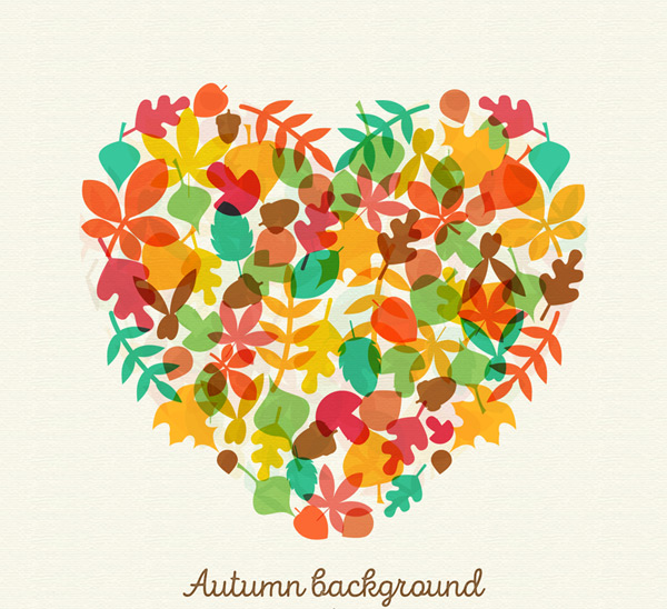 Autumn leaves combination love