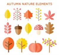 Autumn plant vector