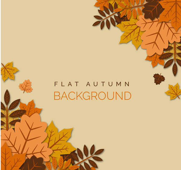 Autumn superimposed leaf background