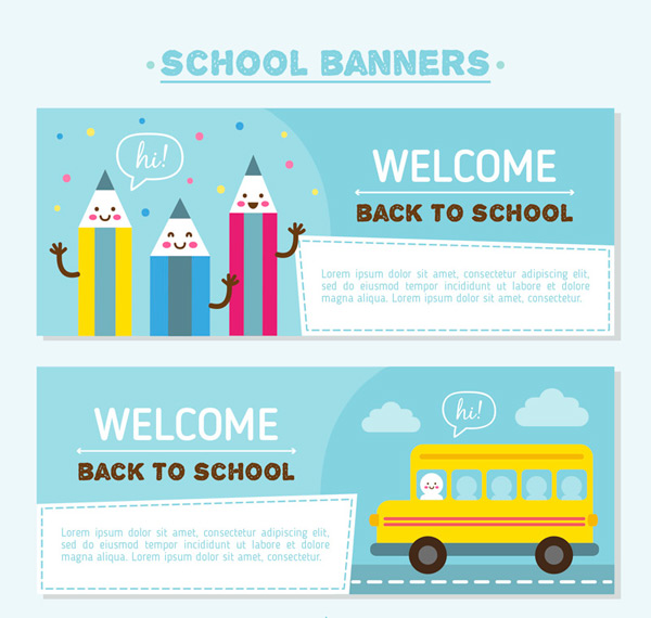 Back to school element banner