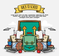Back to school supplies vector