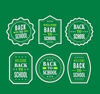 Back to school tag vector