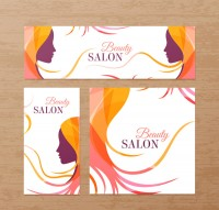 Beauty parlor card design