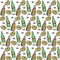 Beer and bread background