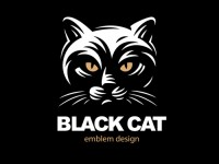 Black cat logo