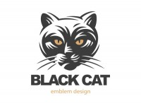 Black cat theme logo