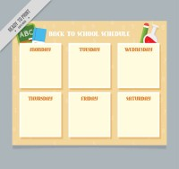 Blank campus timetable