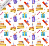 Cake and gift box background