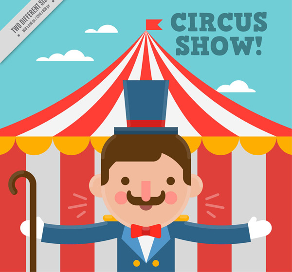 Cartoon circus man