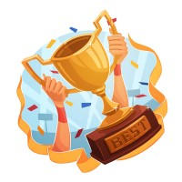 Cartoon trophy illustration