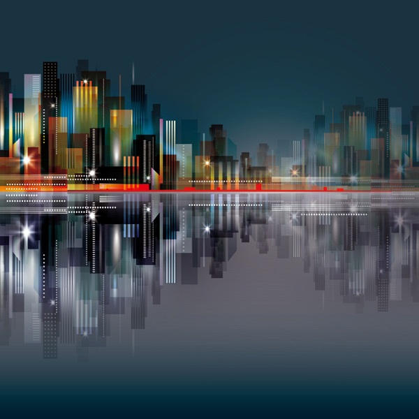 City buildings and Reflections