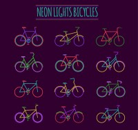 Color neon lamp bicycle