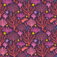 Coral and starfish background