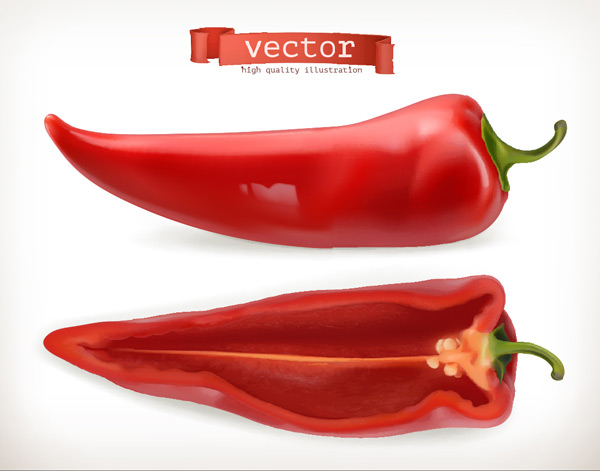 Cut red peppers