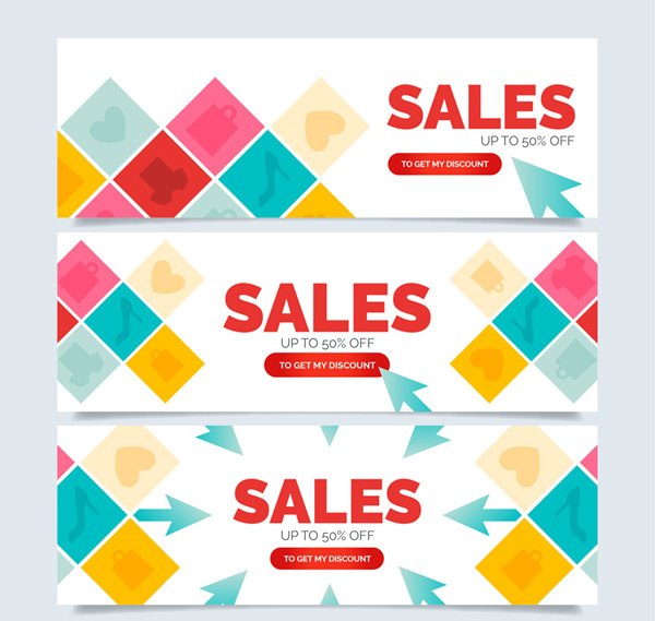 Diamond shaped promotional banner